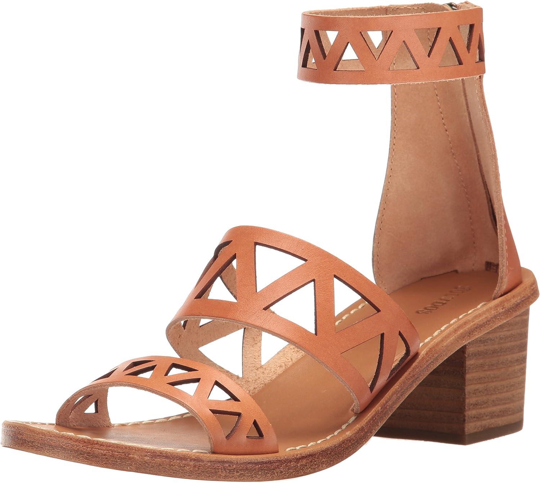 Soludos Womens Geo Laser Cut Midheel Sandal Flat