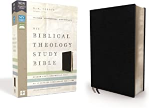 NIV, Biblical Theology Study Bible, Bonded Leather, Black, Comfort Print: Follow God's Redemptive Plan as It Unfolds throughout Scripture