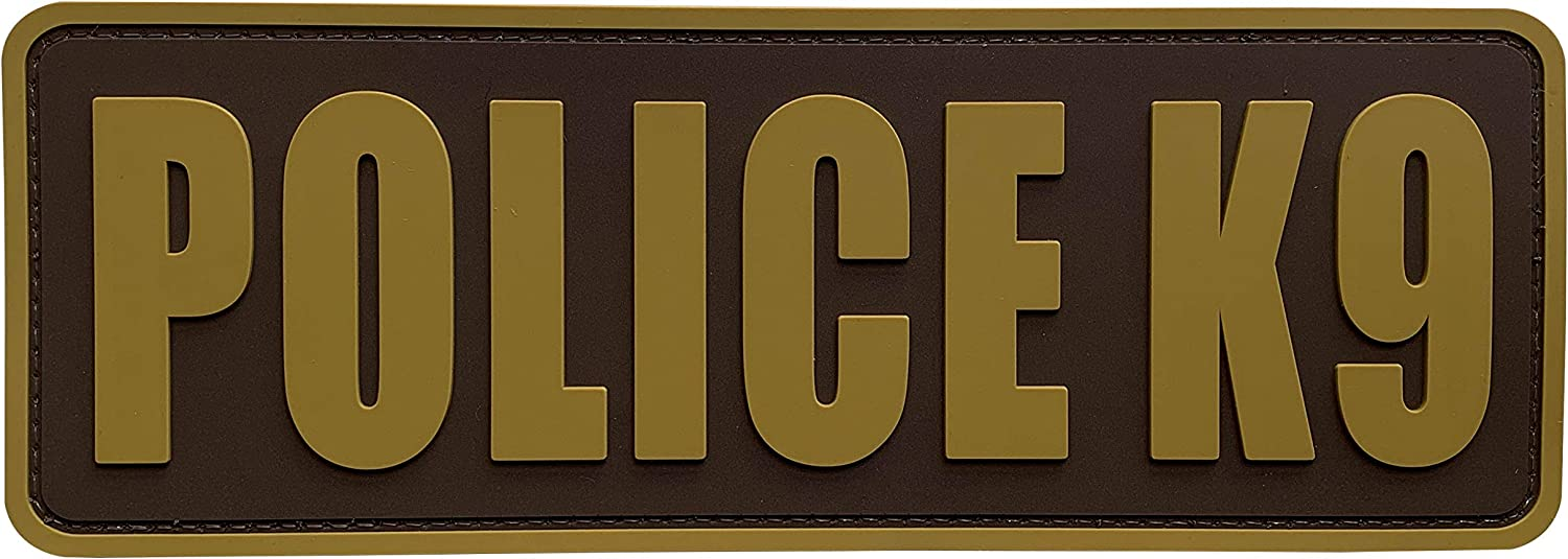 uuKen Coyote Tan K9 Police Patch 8.5x3 Superior for PVC inch Max 40% OFF Tactic