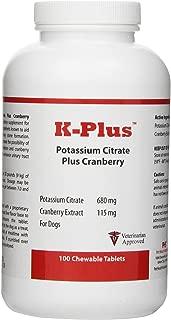 Pet Health Solutions K-Plus Potassium Citrate Plus Cranberry (100 Tabs)