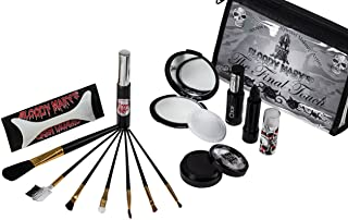 Gothic Style Final Touch Makeup Kit By Bloody Mary - Professional Quality Dark Goth Look Cosmetic Supplies Set - Black Mas...