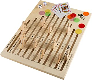 Hey! Play! Wooden Horse Race Strategy Board Game