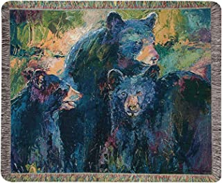 Throws - Bear Family Tapestry Throw Blanket - Lodge - Woodlands- Wildlife