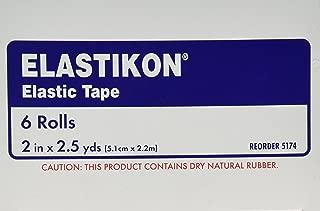 Elastikon Johnson and Johnson First Aid Elastic Tape, 6 Count