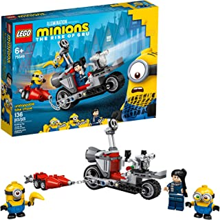 LEGO Minions Unstoppable Bike Chase (75549) Minions Toy Building Kit, with Bob, Stuart and Gru Minion Figures, Makes a Gre...