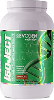 EVOGEN Naturals ISOJECT, Premium Whey Isolate w/Digestive Enzymes, 28 Servings (2lbs, Chocolate)