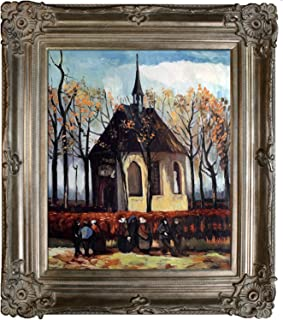 overstockArt Congregation Leaving The Reformed Church in Nuenen with Renaissance Champagne Frame Painting