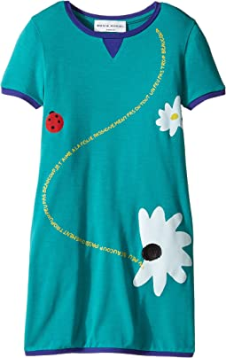 Sonia Rykiel Kids - Short Sleeve Dress w/ Flower Design On Front (Toddler/Little Kids)