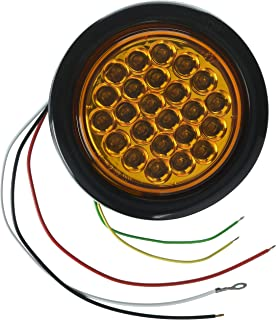 Buyers Products SL41AR Amber Round LED Strobe Light (4in ROUND)