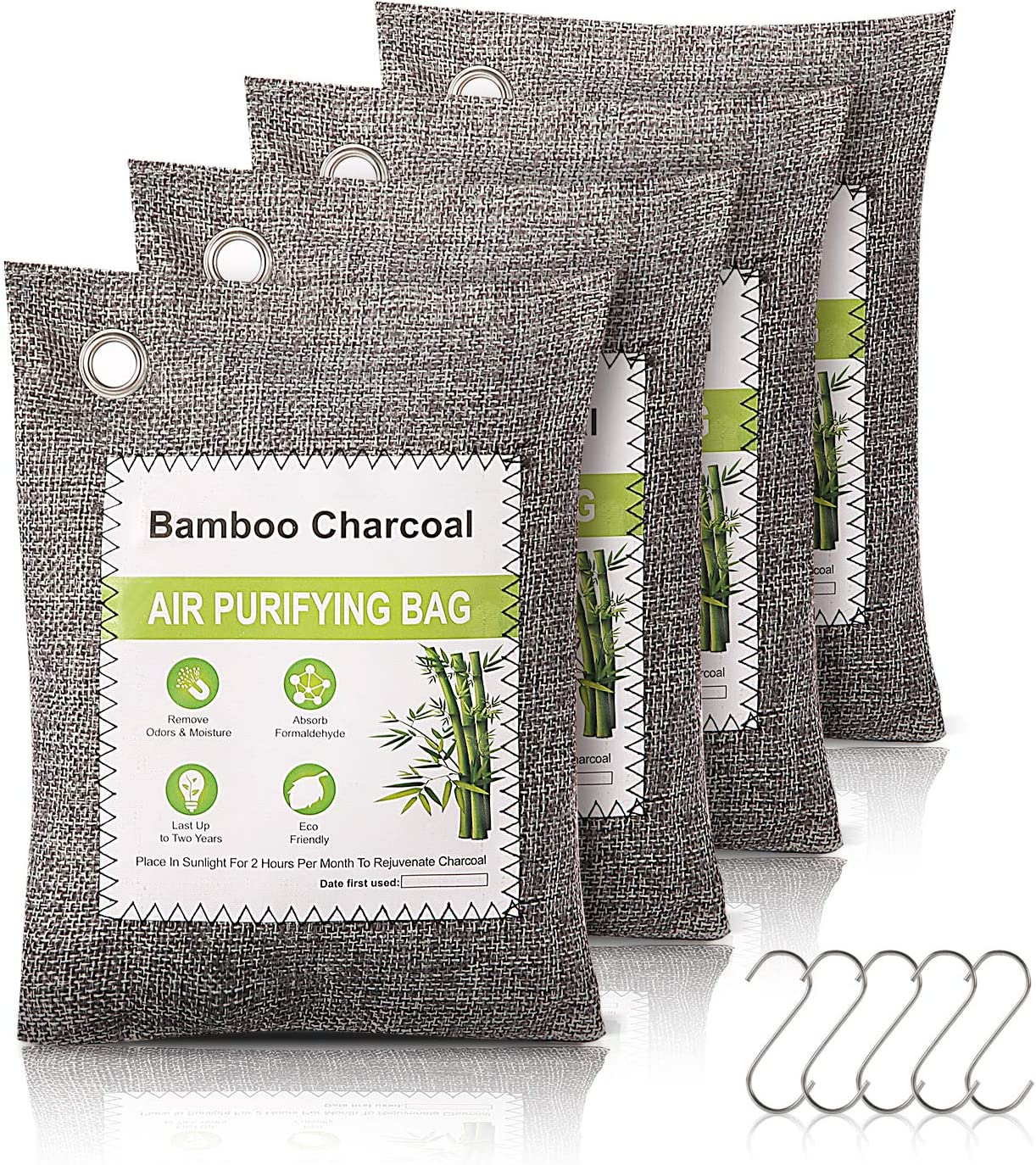 Bamboo Charcoal Air Arlington Mall Purifying Odor Abso 4pack Bags Sales