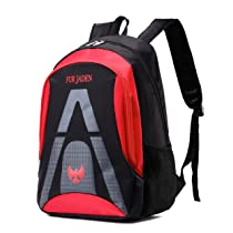 FUR JADEN School and College 20 Ltrs Red Casual Backpack (BM31_Red)