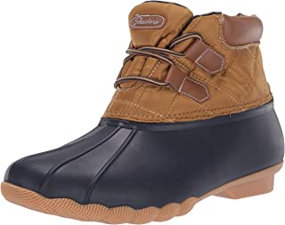 Skechers Hampshire - Duck Ridge - Mid Quilted Lace Up Duck Boot with Waterproof Outsole womens Rain Boot