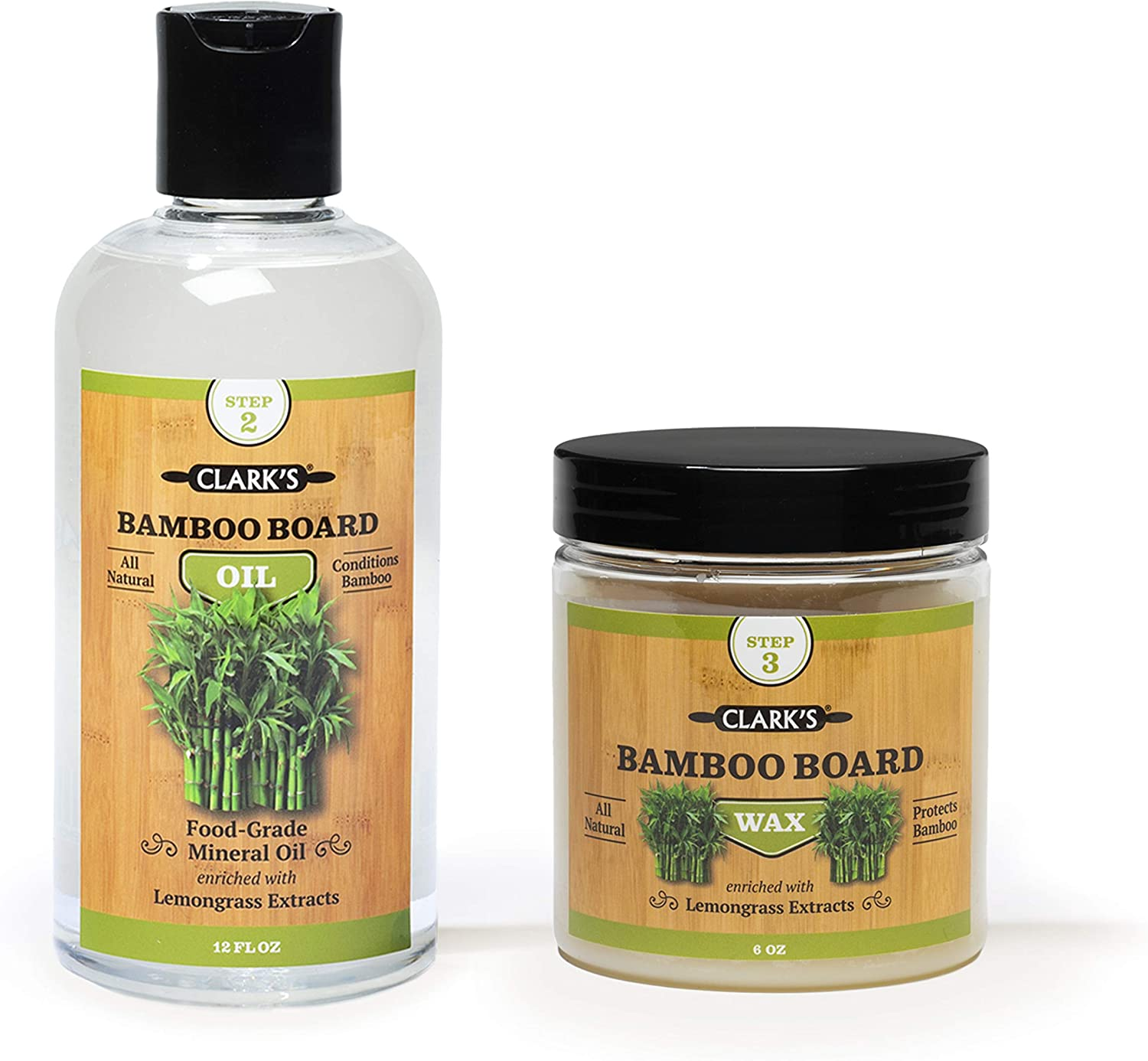 Bamboo Board Oil Wax Cash special price 2 Bottle CLAR Includes by Set CLARK'S - At the price of surprise