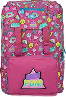 Smily kiddos | Smily Fancy Backpack (Pink) | Travel Backpack for kids | Backpack for Boys & Girls | Girls Stylish Bag | Pi...