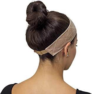 Velcro Free Velvet Wig Grip by Indigo Exchange - New Adjustable Elastic Closure Prevents Hair Breakage and Bunching - Non Slip Wig Accessory - Holds Wigs in Place-Wigrip Comfort Band for Women (Tan)