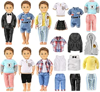 AISYAH Doll-Clothes for 18-inch American-Boy Dolls Outfits - Logan Doll Clothes Accessories Suit 6 Set