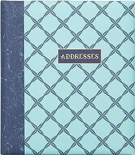 C.R. Gibson 6-Ring Binder Refillable Address Book, Ocean Theme, 6.5'' x 7.25''