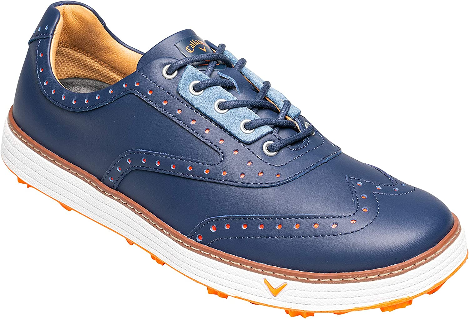 Callaway Men S Del Mar Retro Waterproof Spikeless Golf Shoes Blue Navy 11 46 Eu Amazon Co Uk Shoes Bags