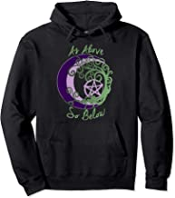 Wiccan Pagan Witch Tree of Life, As Above, So Below Art Pullover Hoodie