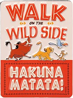 Open Road Brands Disney Lion King Hakuna Matata Embossed Metal Wall Art Sign - an Officially Licensed Product Great Addition to Add What You Love to Your Home/Garage Decor