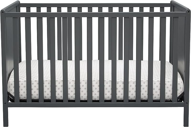 Delta Children Logan 4 In 1 Convertible Crib Charcoal Gray