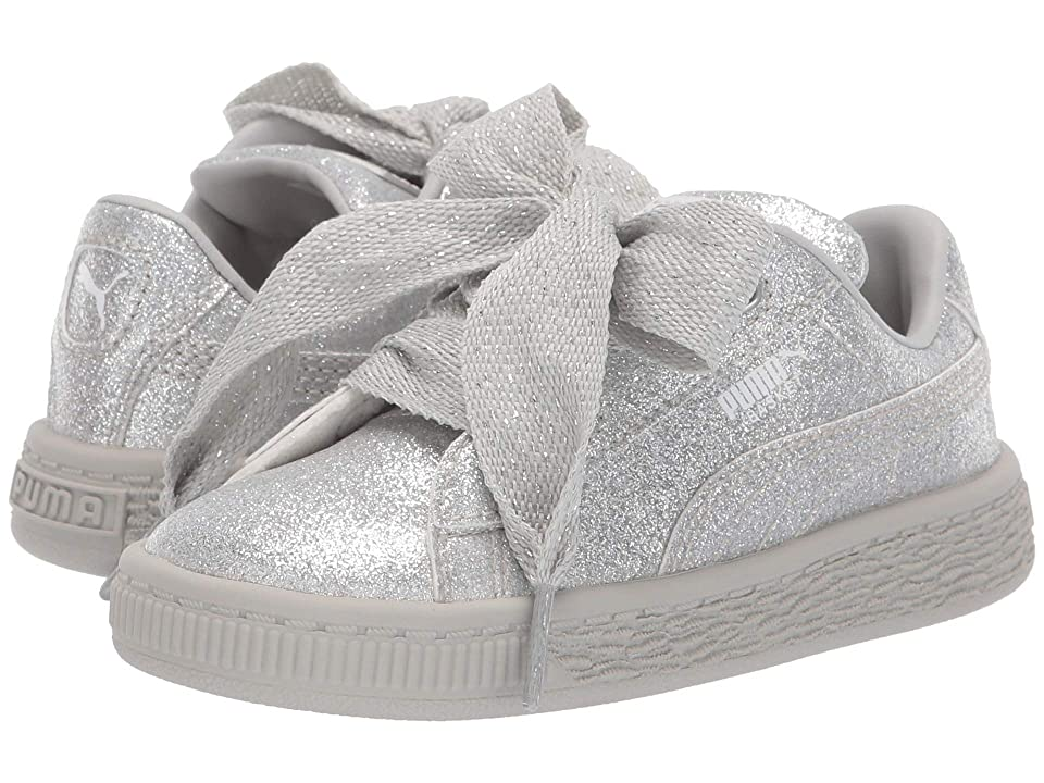 Puma Kids Basket Heart Holiday Glamour Inf (Toddler) (Puma Silver Gray  Violet aad9d113a