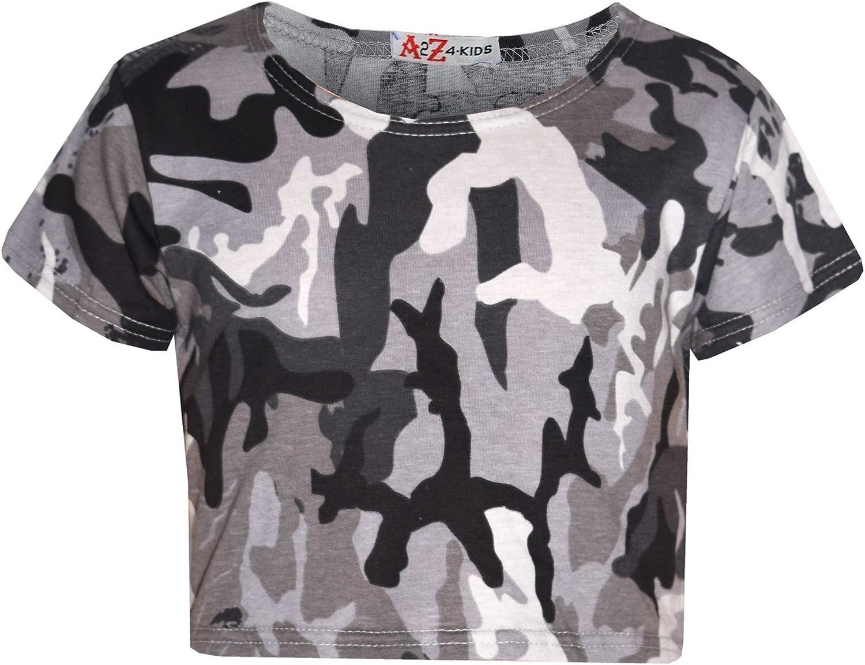 Girls Top Kids Mail order cheap Camouflage Popularity Crop Midi Dress Pla Legging Skater