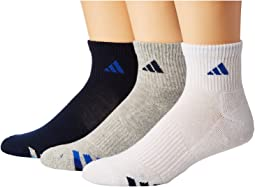 adidas - Cushioned Color 3-Pack Quarter Socks