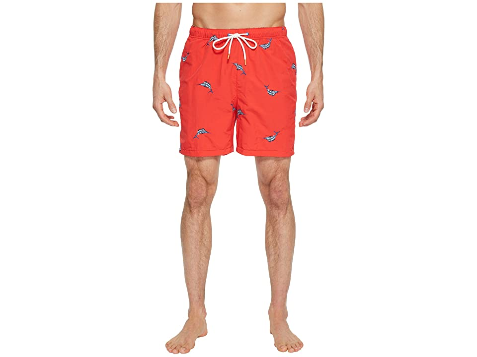 Tommy Bahama Naples Marlin Coast Swim Trunk (Red Cherry) Men