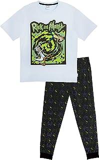 Rick and Morty Mens Pyjamas, 2 Piece PJs Set with Mens Lounge Pants & Short Sleeve Top, 100% Cotton Pajama Sets, Nightwear...