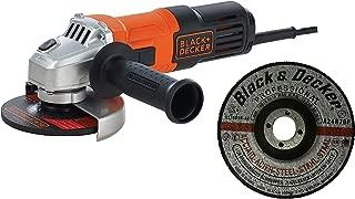 Black & Decker 100mm/115mm 650W Small Angle Grinder G650-B5 with 3 Metal Grinding Disk A17901N-AE, Orange/Black - G650MEA1-B5