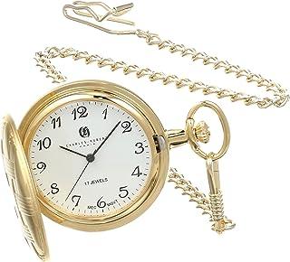 Charles Hubert 3841-G Gold-Plated Mechanical Pocket Watch