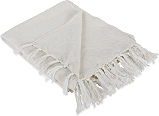 DII Modern Cotton Geometric Blanket Throw with Fringe For For Chair, Couch, Picnic, Camping, Beach, Everyday Use, 50 x 60