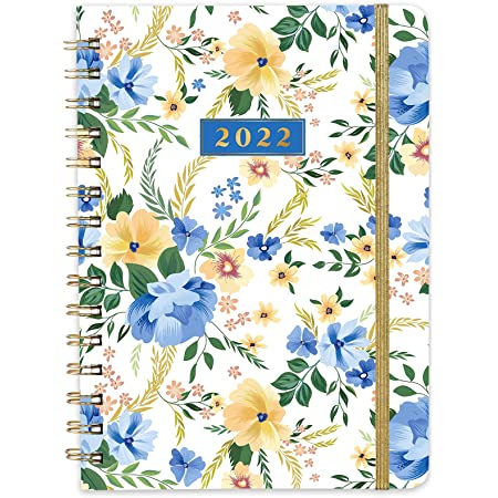 2022 Diary - A5 Week to View Diary from January 2022 to December 2022, 2022 Hardcover Diary with Inner Pocket, Twin-Wire Binding, 21.5 x 15.5 cm