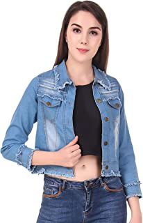 Fasnoya Women Washed Slim Fit Denim Jacket