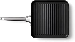 Calphalon Premier Hard-Anodized Nonstick 11-Inch Square Grill Pan, 11 Inch, Black