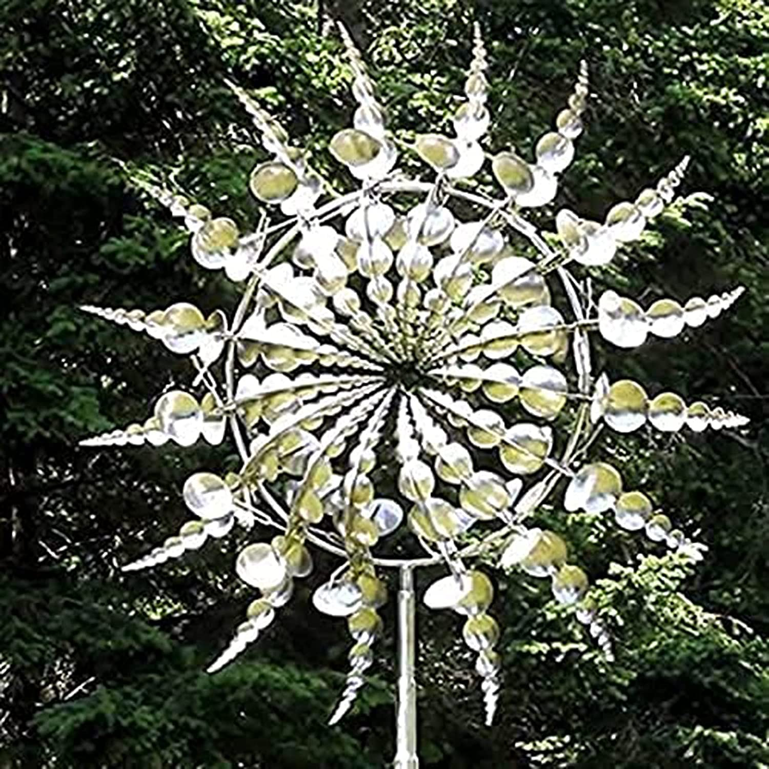 QWBBY Unique Portland Mall and Magical Metal Windmill Catc Solar Spinner Selling selling Wind