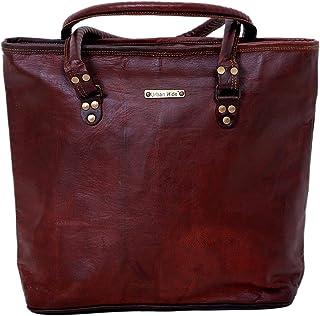 Borsa da donna in vera pelle fatta a mano Borsa tote grande da donna Porta borsa da viaggio rustica
