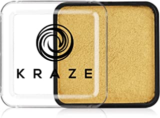 Kraze FX Square - Metallic Gold Face Paint (25 gm) - Hypoallergenic, Non-Toxic, Water Activated Professional Face & Body P...