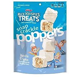 Rice Krispies Treats Poppers, Crispy Marshmallow Squares, Vanilla Crème, 7.1Ounce Bag