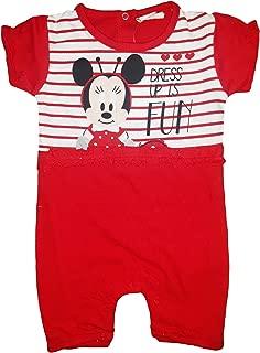 Disney Pagliacetto neonata Mezza Manica Puro Cotone Minnie topolina Art WD 42-204