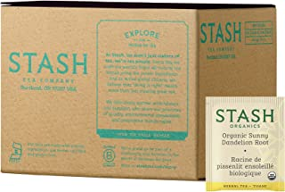 Stash Tea Organic Sunny Dandelion Root 100 Count Tea Bags (packaging may vary) Individual Herbal Tea Bags for Use in Teapots Mugs or Cups, Brew Hot Tea or Iced Tea