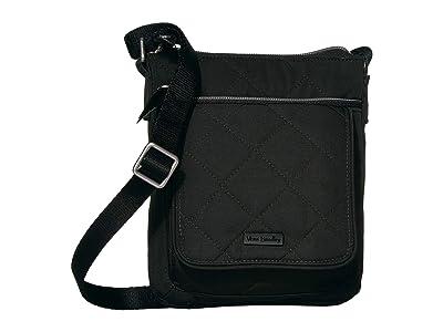 Vera Bradley Performance Twill RFID Mini Hipster (Black) Handbags