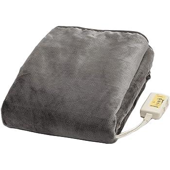 ライフジョイ 電気毛布 掛け 敷き 日本製 グレー 188cm×130cm 洗える ふわふわ 室温センサー付 JCBR803H