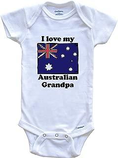 I Love My Australian Grandpa Australia Flag Grandchild Baby Onesie