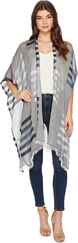 Echo Design - Bay Stripe Yarn-Dye Ruana Wrap