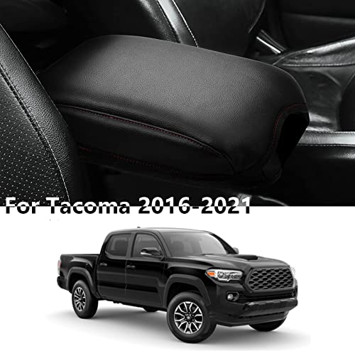 2021 SUHU Center Console Cover for Tacoma 2016-2021 PU Leather Armrest Cover Compatible high quality with Tacoma Car Armrest Cushion Protector for lowest Toyota Tacoma Accessories outlet online sale