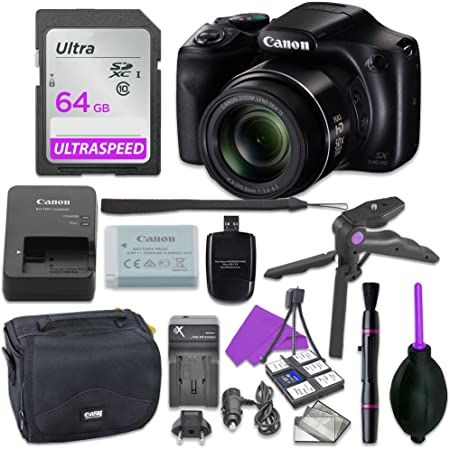 Canon PowerShot SX540 HS with 50x Optical Zoom and Built-in Wi-Fi Deal-Expo Essential Accessories Bundle