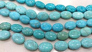 14x18mm Stone Turquoise Jewelry Oval Egg Aqua Blue Turquoise Loose, Semi Precious Gemstone Full Strand 16