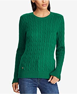 Womens Ribbed Trim Crew Neck Pullover Sweater